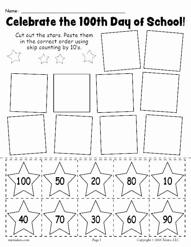 Missing Number Worksheet for Kindergarten Skip Counting by 100 Worksheets