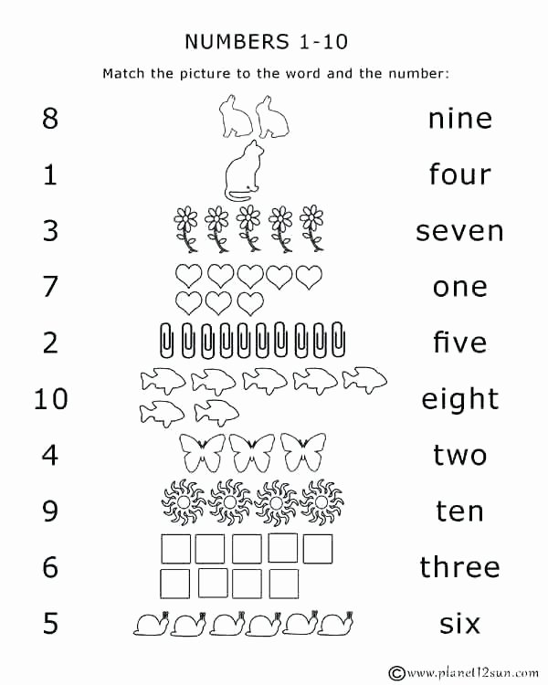 Missing Number Worksheet Kindergarten Kindergarten Worksheets Numbers 1 10