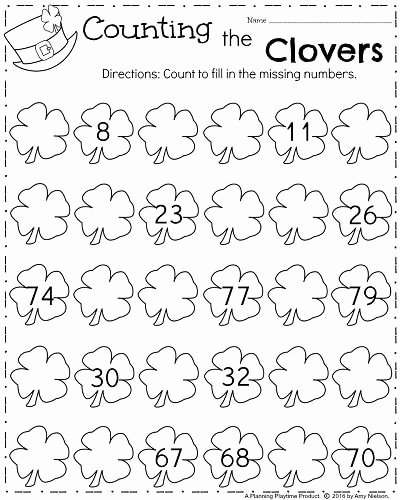 Missing Number Worksheet Kindergarten March Kindergarten Worksheets Kindergarten