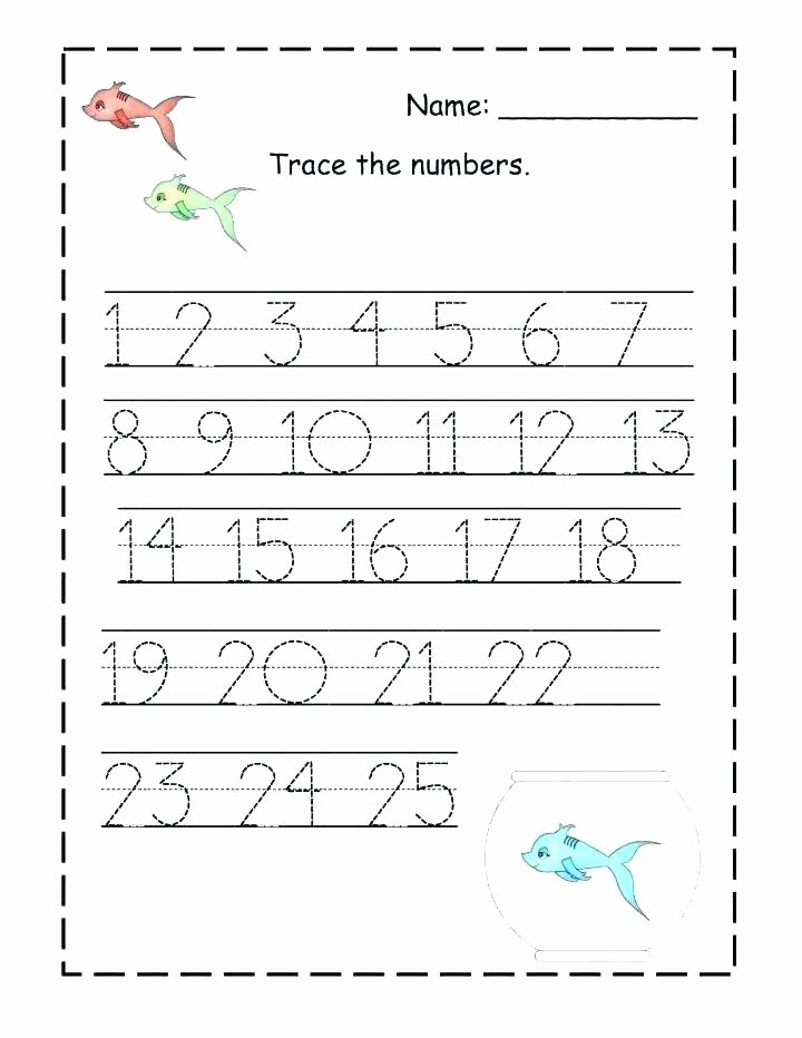 Missing Number Worksheet Kindergarten Number 25 Worksheets for Preschool