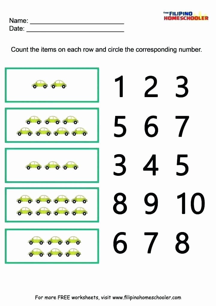 Missing Number Worksheet Kindergarten Printable Matching Worksheets