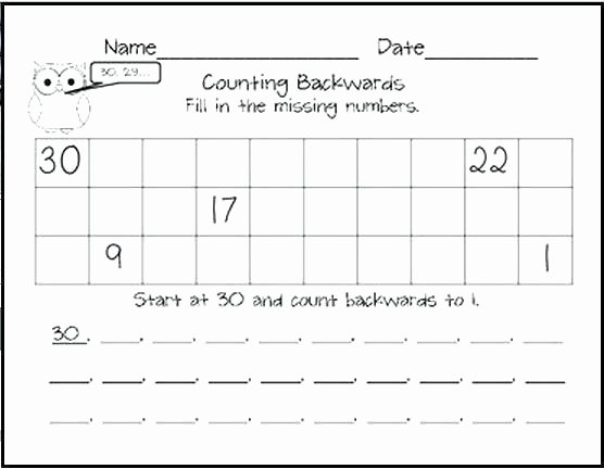 Missing Number Worksheet Kindergarten Rote Counting Worksheets Fill Free 1 5 Missing Number