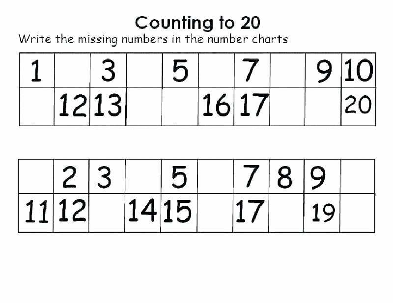 Missing Number Worksheet Kindergarten Shapes and Numbers Worksheets