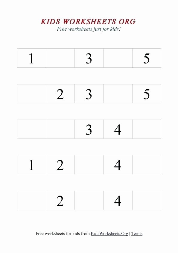 Missing Number Worksheets 1 10 Inspirational Quotes and Sayings Fresh Free Printable Nice