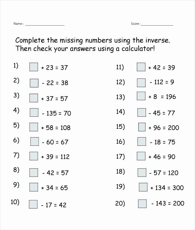 Missing Number Worksheets 1 10 Inverse Missing Numbers Worksheet Template Free Blank Number