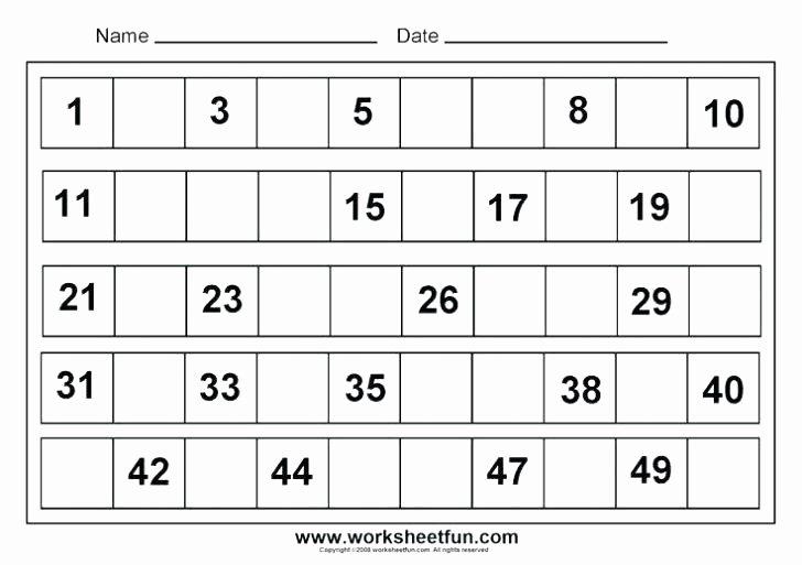 Missing Number Worksheets 1 10 Number 9 Worksheets for Preschool Similar for Number