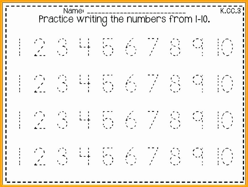 Missing Number Worksheets 1 10 Number Number formation Worksheets 1 10 Number formation