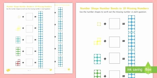 Missing Number Worksheets 1 10 Shapes and Numbers Worksheets