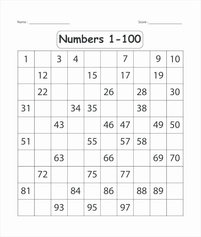 Missing Number Worksheets 1 10 Word Box Spelling Practice Worksheet Template Free Templates