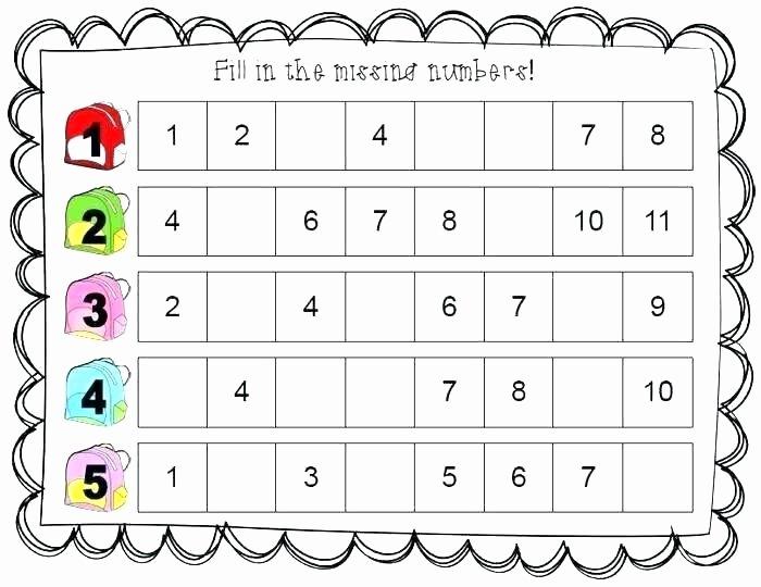 Missing Number Worksheets 1 10 Worksheets Kindergarten Preschool Number Recognition
