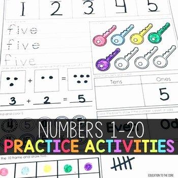 Missing Number Worksheets 1 20 Numbers 1 20 Worksheets