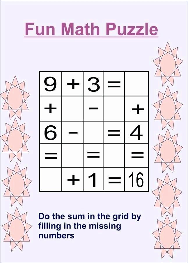 Missing Number Worksheets 2nd Grade Beautiful Math for Kids Worksheets 2nd Grade Maths Puzzles for Kids