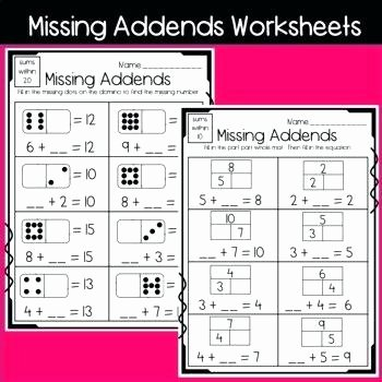 Missing Number Worksheets 2nd Grade Luxury Missing Addend Worksheets Missing Addend Worksheets Missing