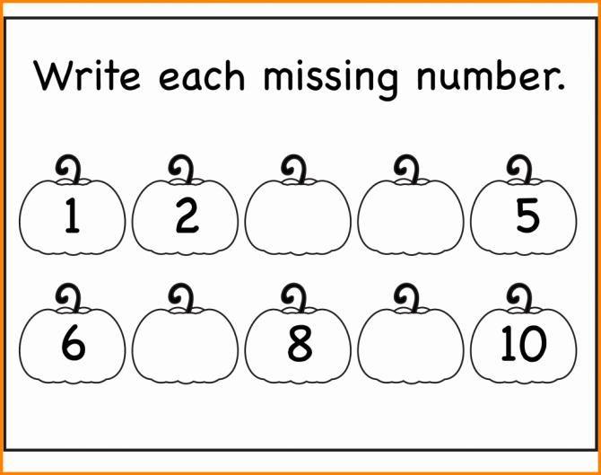 Missing Number Worksheets Kindergarten Preschool Writing Activities Printables with Pre