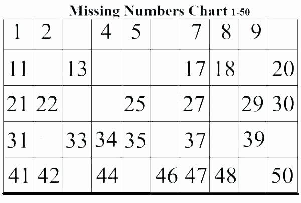 Missing Number Worksheets Kindergarten Printable Number Tracing Worksheets