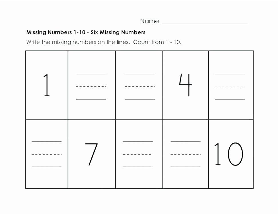Missing Number Worksheets Kindergarten Sight Word Worksheet Printable Kindergarten Worksheets