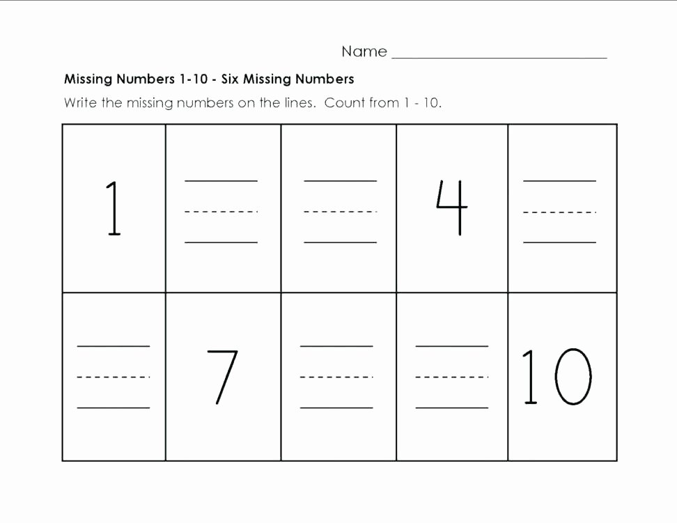 Missing Numbers Addition Worksheets Lovely Grade Math Worksheets Subtraction Kindergarten Numbers 1