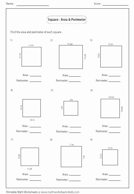Missing Side Perimeter Worksheet area and Perimeter Worksheets for Grade Math Distributive