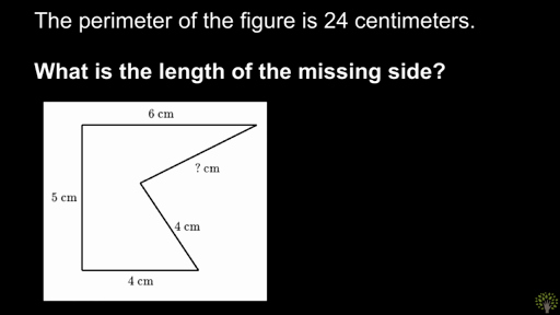 Missing Side Perimeter Worksheet Finding Missing Side Length when Given Perimeter