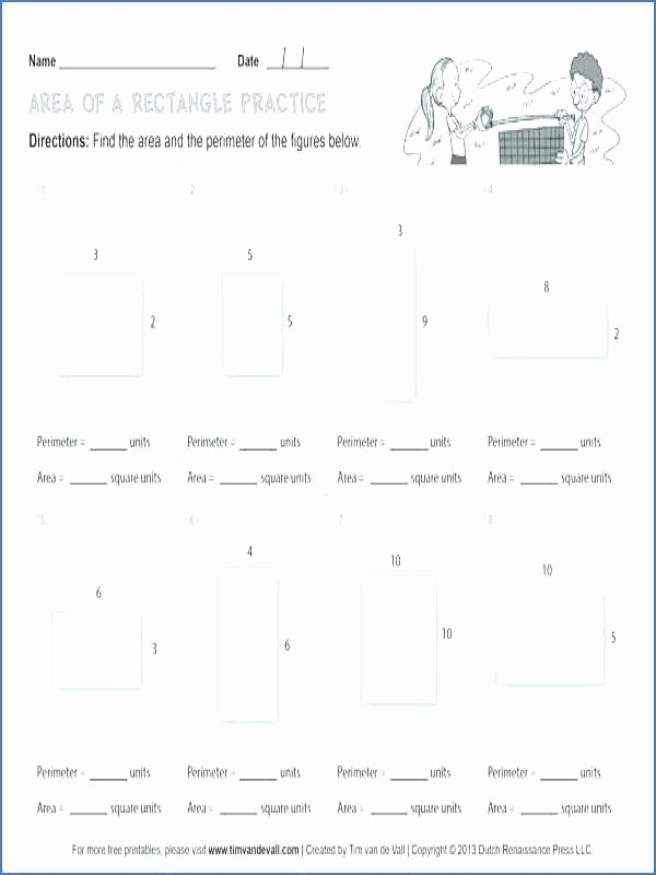 Missing Side Perimeter Worksheet Polygon Worksheets Grade area A Rectangle Worksheet