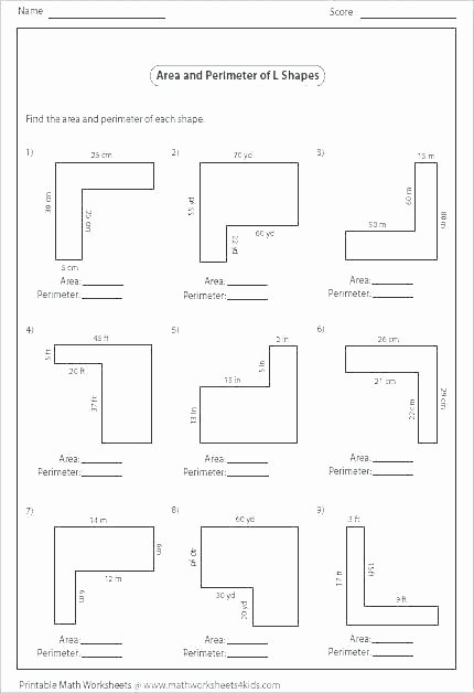 Missing Side Perimeter Worksheet Printable Perimeter Worksheets Unit Free for Third Grade