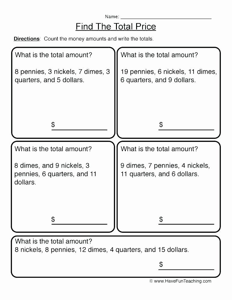 Money Worksheets 3rd Grade Adding Money Worksheets 3rd Grade