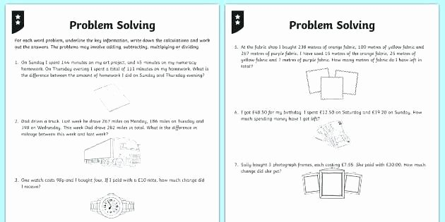 Money Worksheets 3rd Grade Money Problem solving Worksheets Boost Your Graders Math