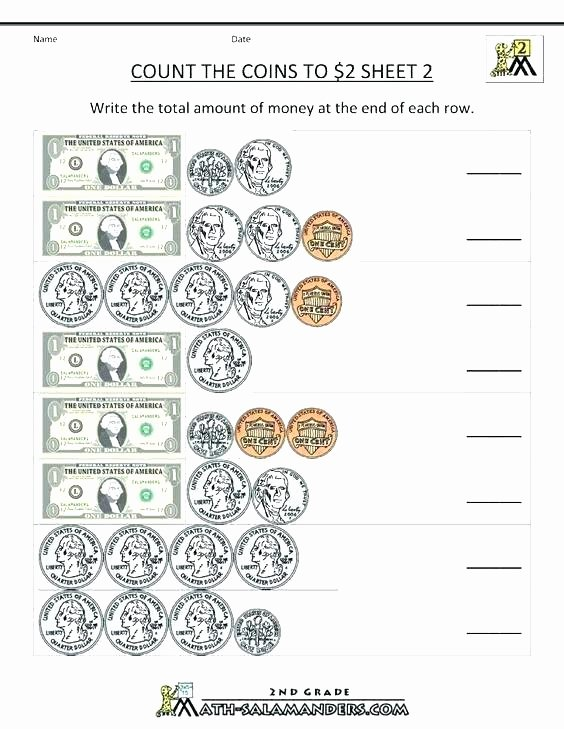 Money Worksheets for Second Grade Money Math Worksheets 3rd Grade – Trungcollection