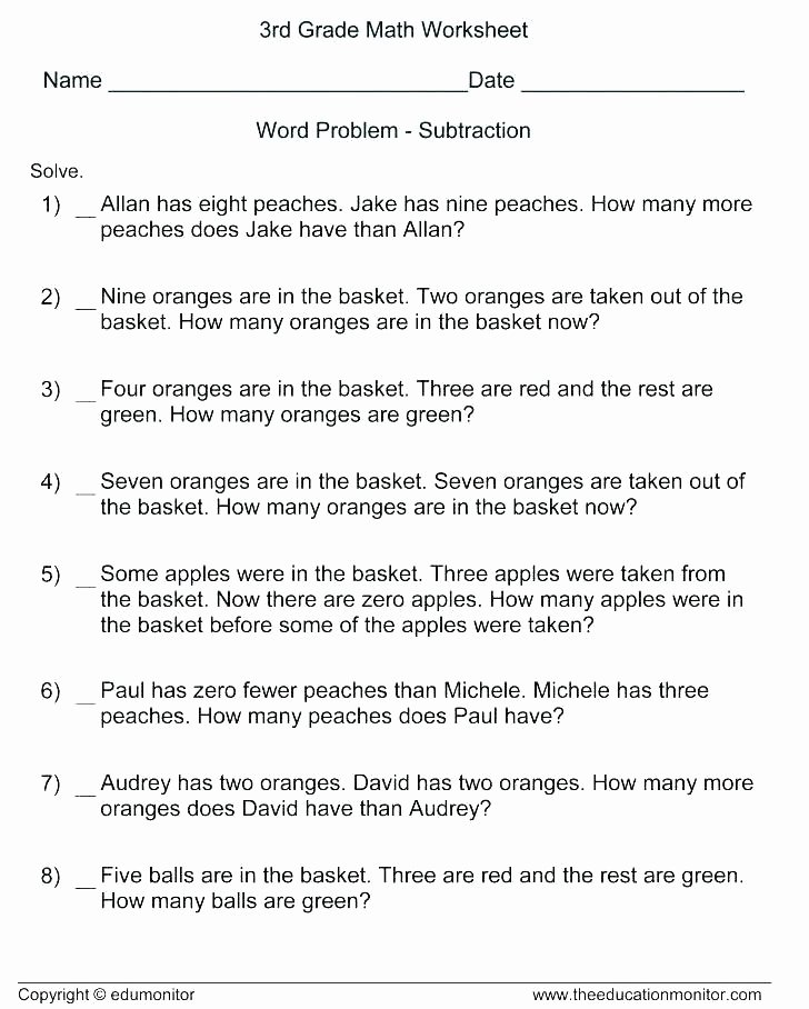 Money Worksheets for Second Grade Money Word Problems Worksheets