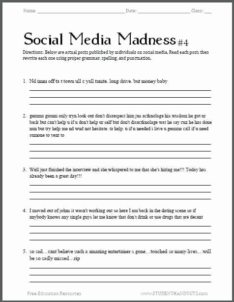 Mood Worksheets for Middle School Awesome Middle School English Worksheets Printable for Grammar