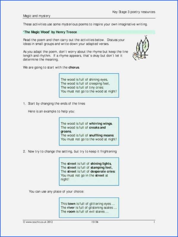 Morning Work Worksheets Fresh Fresh Reading Poetry Worksheet – Enterjapan