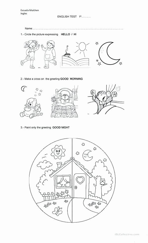 Morning Worksheets for Kindergarten New Kindergarten Worksheets Test Kindergarten Test Practice