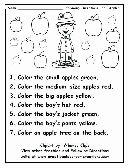 Multi Step Directions Worksheets Beautiful Following Directions Worksheets for Grade 2 Brilliant Ideas
