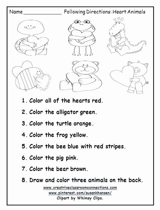 Multi Step Directions Worksheets Elegant Following Directions Worksheets for Grade 2 Brilliant Ideas
