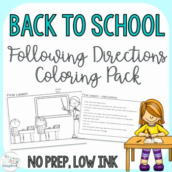 Multi Step Directions Worksheets Luxury Following Directions Coloring Worksheets & Teaching