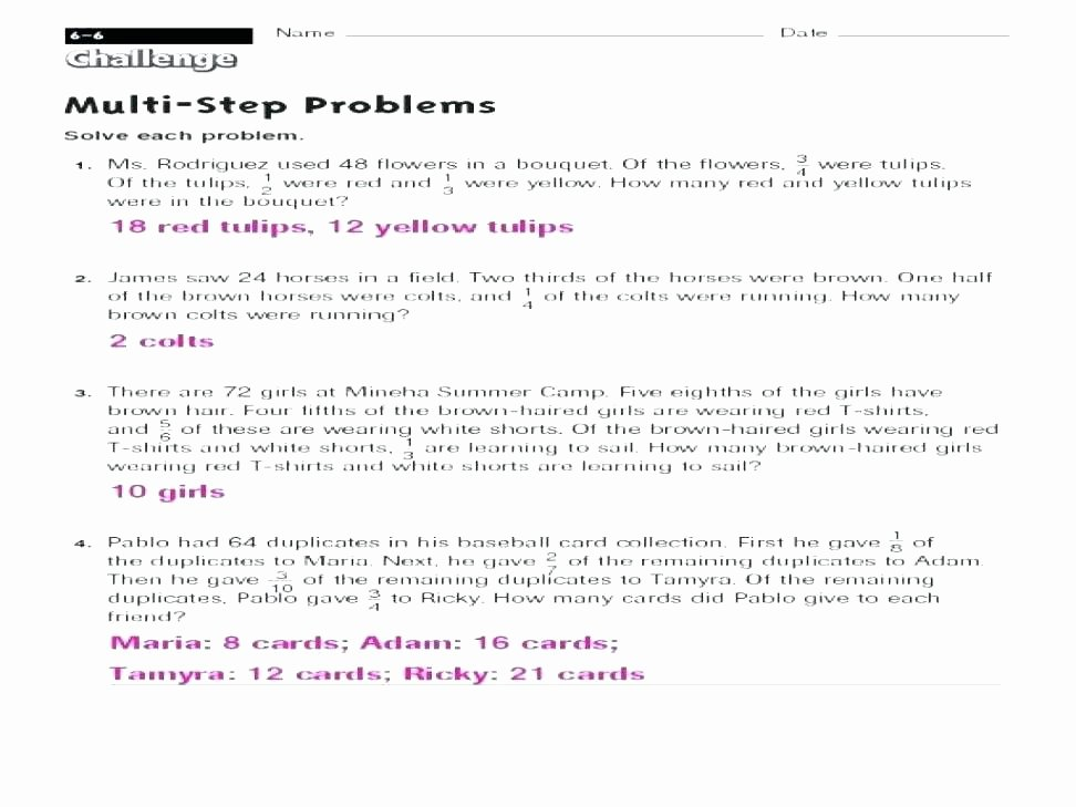Multi Step Word Problems Worksheets Math Word Problems Worksheets E Step Problem Multi Grade