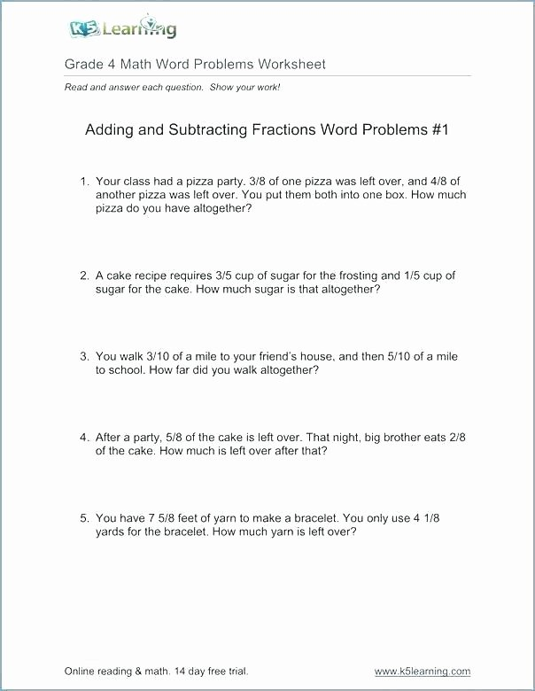 Multi Step Word Problems Worksheets Subtraction for Grade 3 – Trubs