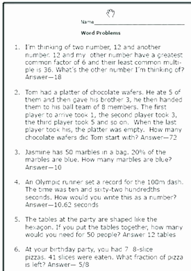 Multi Step Word Problems Worksheets Two Step Math Word Problems Worksheets