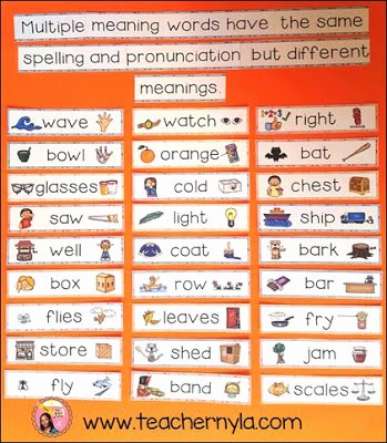 Multiple Meaning Words 2 Word Wall JPG