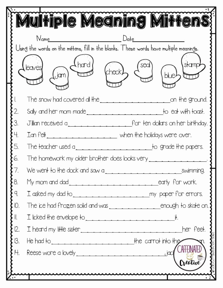 Multiple Meaning Worksheets How to Survive the Winter Holidays as A Teacher •