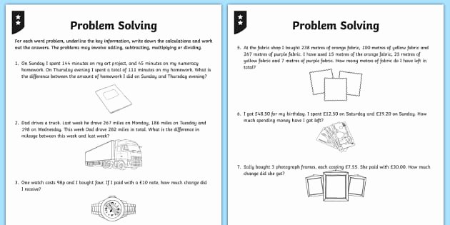 Multiple Step Word Problem Worksheets Differentiated Addition and Subtraction Word Problem