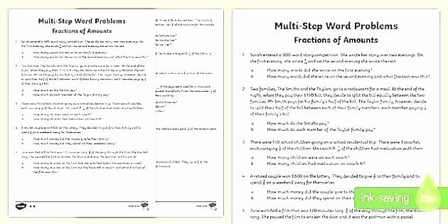 Multiple Step Word Problem Worksheets Money Word Problems Worksheets 6th Grade