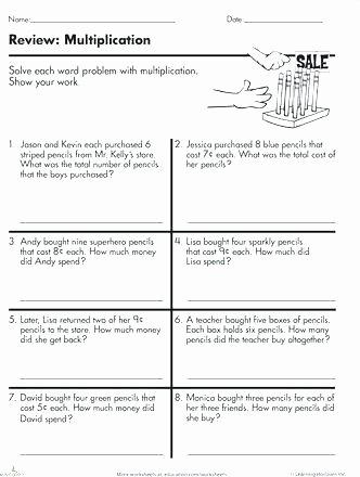Multiple Step Word Problem Worksheets Multi Step Multiplication Word Problems Math Math Worksheets