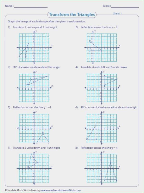 Multiple Transformations Worksheets Geometry Transformations Worksheet