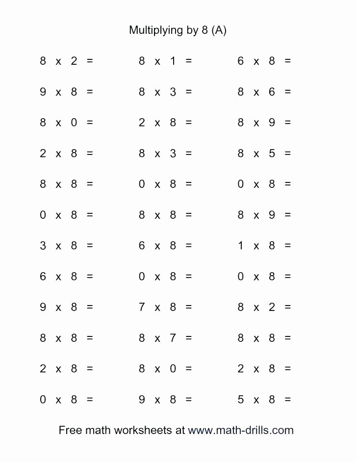 Multiplication Facts Worksheet Generator Math Facts Worksheets 5th Grade – Jhltransports