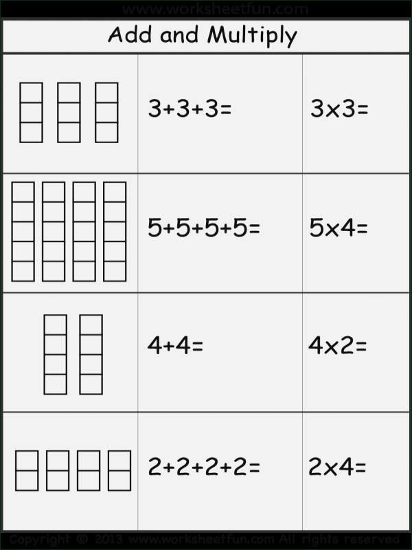 Multiplication Repeated Addition Worksheets Array Worksheets