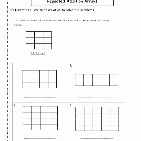 Multiplication Repeated Addition Worksheets Multiplication as Repeated Addition Worksheet Remember is
