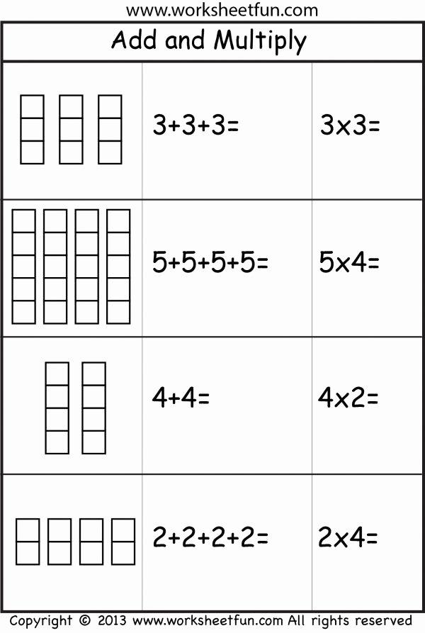 Multiplication Repeated Addition Worksheets Yogesh Yogtravels9 On Pinterest
