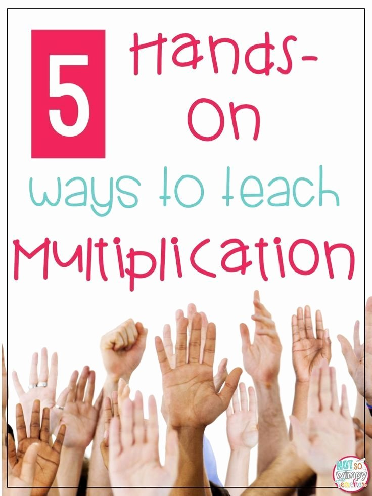 Multiplication Strategies Posters 5 Hands Ways to Teach Multiplication Math