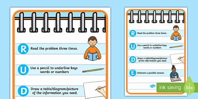 Multiplication Strategies Posters Rude Problem solving Strategy Display Poster